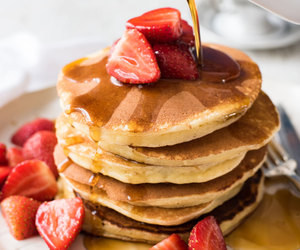 food, sweets, and pancakes image