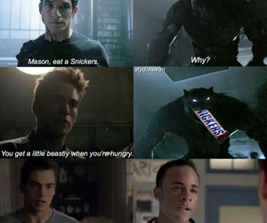 teen wolf, Mason, and snickers image