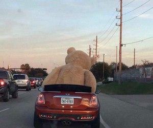car, teddy, and bear image