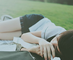 sleeping, ulzzang, and cute image