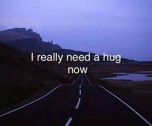 alone, fake, and hug image