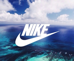 blue, nike, and wallpaper image