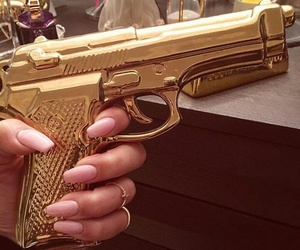 gold, gun, and girly image