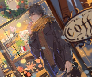 anime, winter, and art image