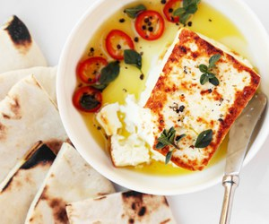 bread, cheese, and feta image