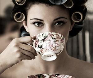 tea, hair, and vintage image