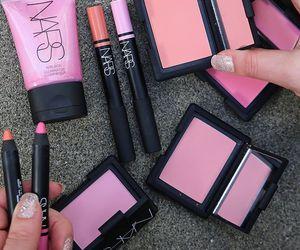 makeup, pink, and nars image