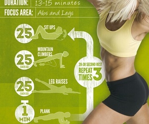 15, workout, and abs image