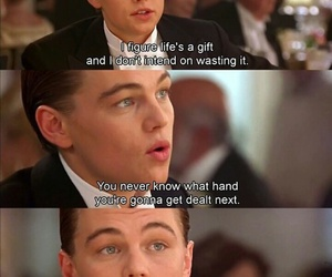 titanic, quotes, and leonardo dicaprio image