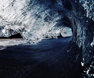 blue, theme, and waves image