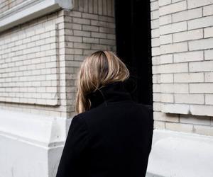 girl, black, and coat image
