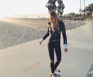 beach, alexis ren, and skate image