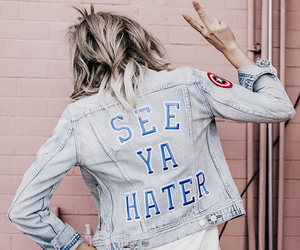 girl, haters, and jacket image