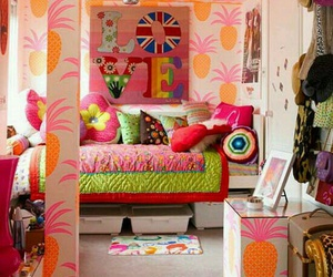 bedroom, room, and colorful image