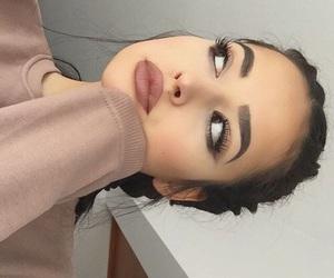 burger, makeup, and nails image