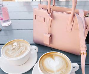 coffee, pink, and bag image