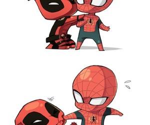 deadpool, spiderman, and Marvel image
