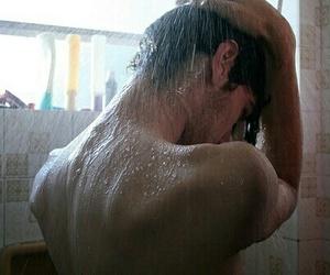 boy, shower, and broken image