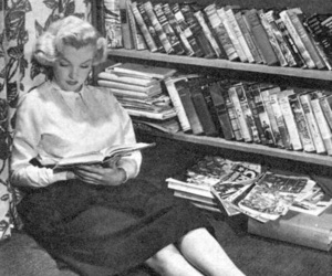 book, Marilyn Monroe, and black and white image