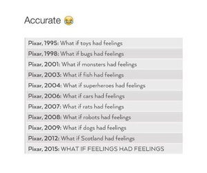 pixar, disney, and feelings image