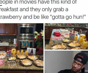 funny, food, and breakfast image