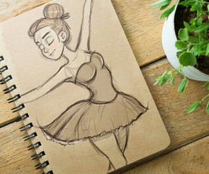 art, drawing, and ballet image