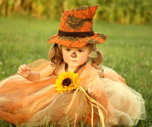 baby, scarecrow, and cute image