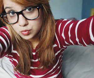 girl, glasses, and hipster image