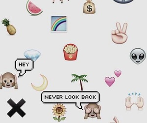 wallpaper, background, and emojis image