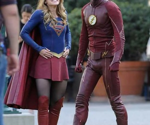 Supergirl and the flash image
