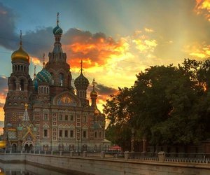 cathedral, russia, and saint petersburg image