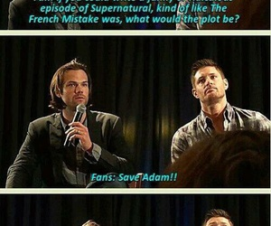 supernatural, adam, and funny image