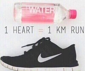 run, fitness, and nike image
