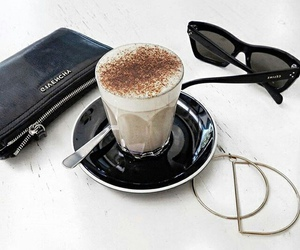 coffee, Givenchy, and sunglasses image