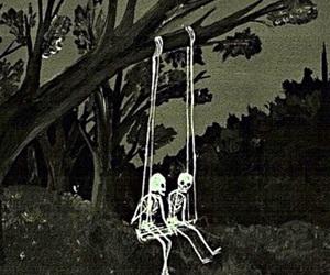 skeleton, art, and death image