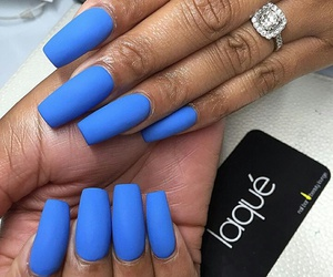 nails and blue matte image