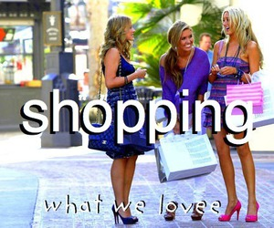 girl, shopping, and love image