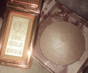 gold, makeup, and pretty image