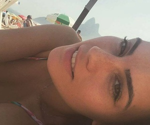 beach, sun, and eyebrows image