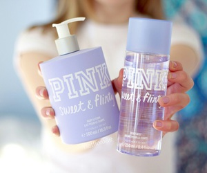 pink, girly, and perfume image