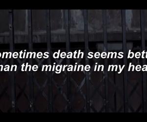 Lyrics, migraine, and quotes image
