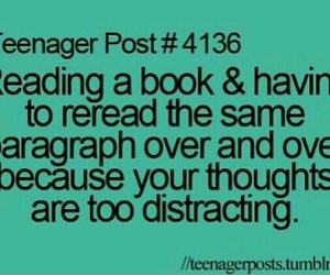 funny, teenager post, and book image