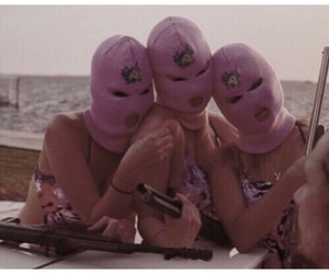 grunge, pink, and spring breakers image