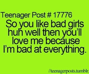 bad, funny, and teenager post image