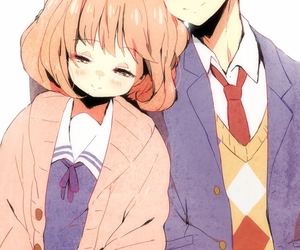kyoukai no kanata, anime, and kuriyama mirai image