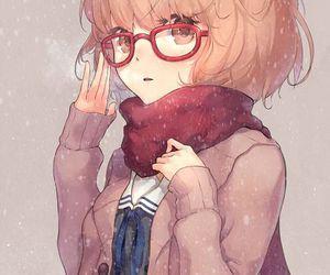 anime, kyoukai no kanata, and glasses image