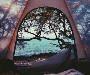 nature, sea, and camping image
