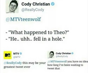 teen wolf, theo, and tw image