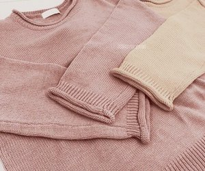 pink, rose gold, and sweater image