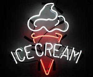 neon, ice cream, and light image